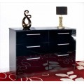 Chester 6 Drawer Chest (Black)