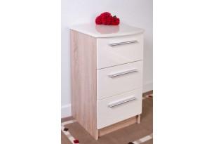 Chester Bedside Cabinet (Cream on Oak)