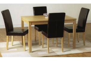 Oakmere Table & Chairs   oak/brown