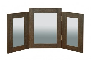 Havana dressing table triple mirror wenge