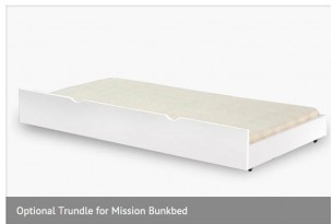 Mission Underbed Trundle -  White